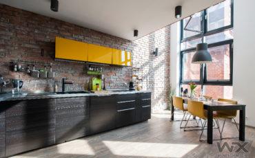 Dwupoziomowy, nowoczesny loft