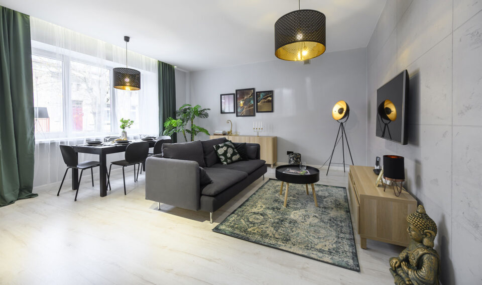 45m2, 2-pokojowe mieszkanie z ogrodem i klimatyzacją