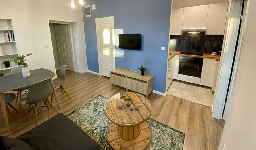 33 m2, 2 pokojowe mieszkanie z garderobą